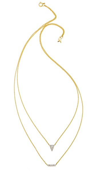 Kacey K Triangle & Bar Necklace
