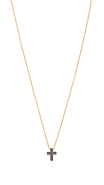 Kacey K Mini Cross Necklace