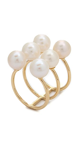 Kacey K Stack Ring with Cultured Freshwater Pearls