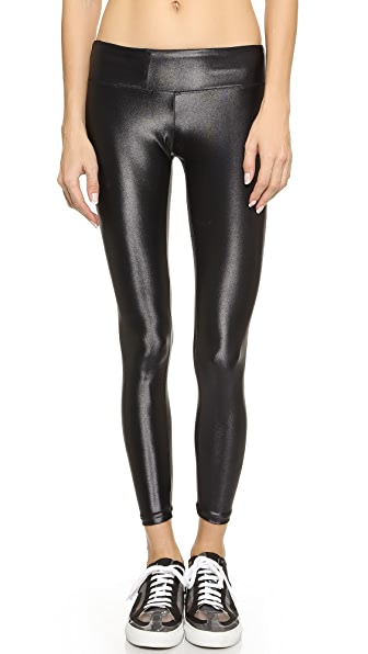 KORAL ACTIVEWEAR Shiny Metallic Active Legging - Black