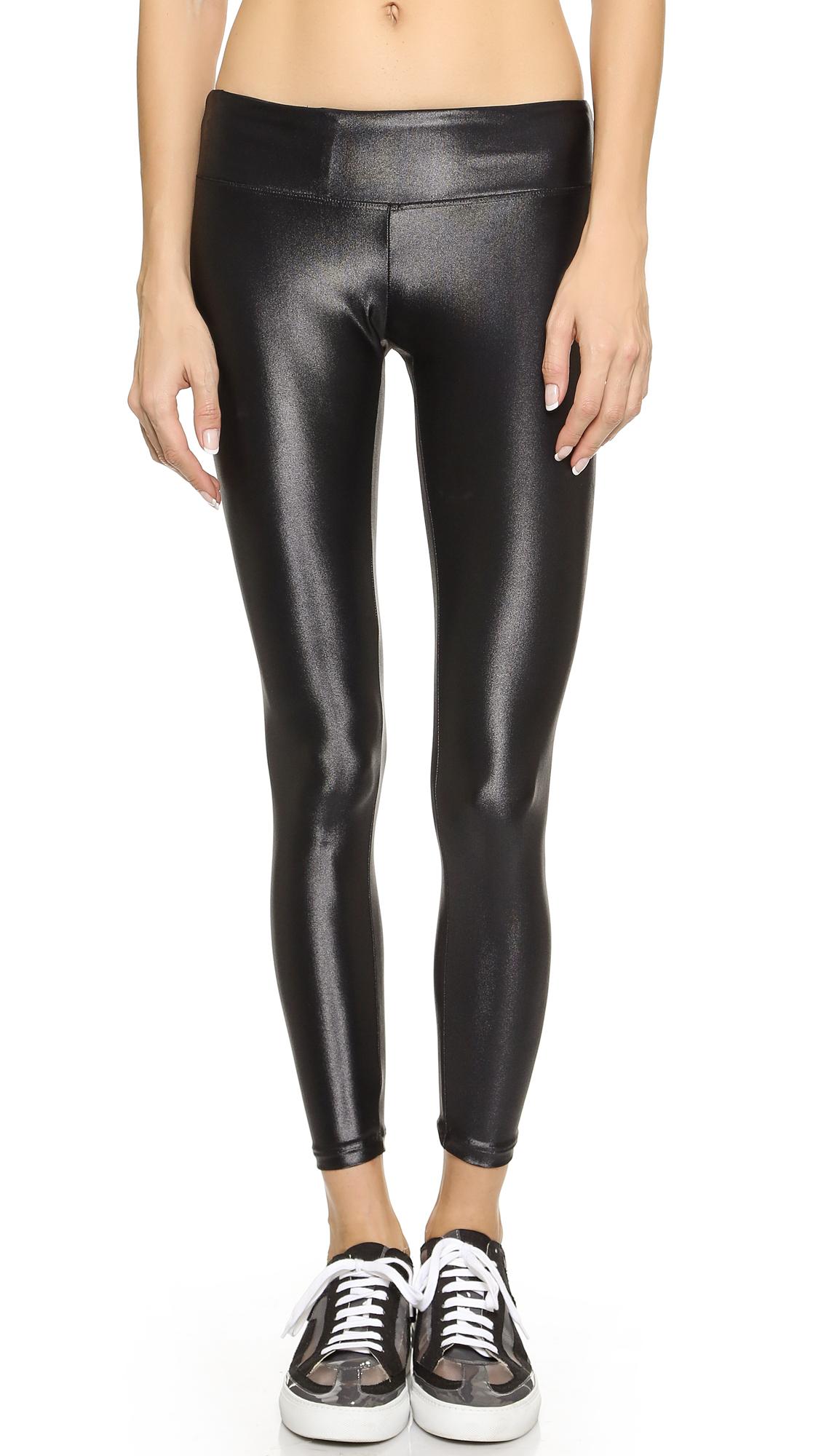 KORAL ACTIVEWEAR Shiny Metallic Active Legging - Black