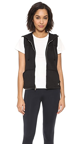 KORAL ACTIVEWEAR Sleeveless Zip Front Hooded Vest