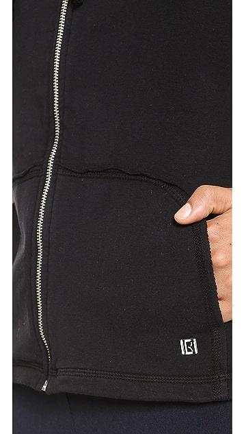 KORAL ACTIVEWEAR Sleeveless Zip Front Hooded Vest