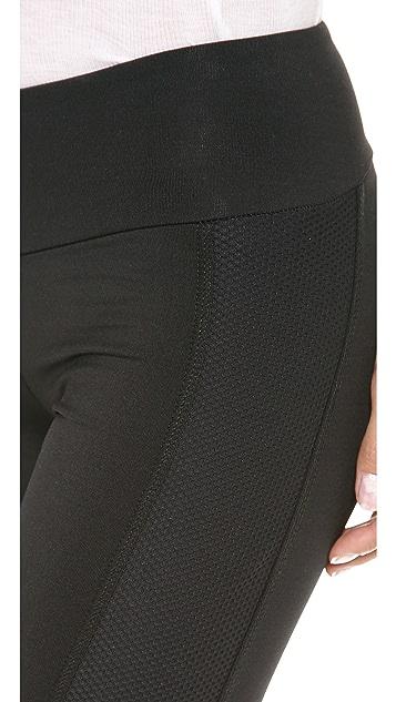 KORAL ACTIVEWEAR Leggings with Contrast Mesh Panels