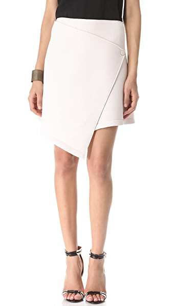 Kaelen Neoprene Wrap Skirt