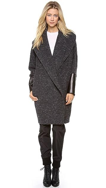 Kaelen Flecked Wool Cocoon Coat