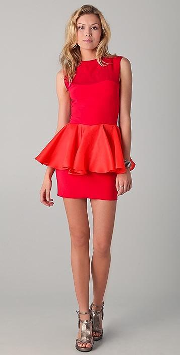 Kalmanovich Raspberry Peplum Dress