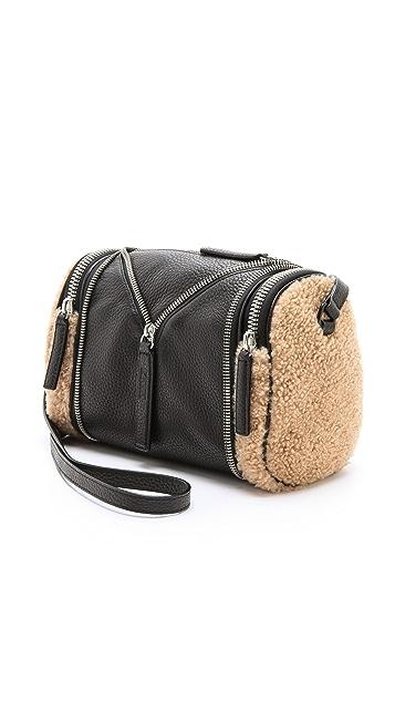 KARA Double Date Convertible Shearling Bag