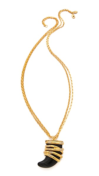 KARA by Kara Ross Snake Wrap Horn Necklace
