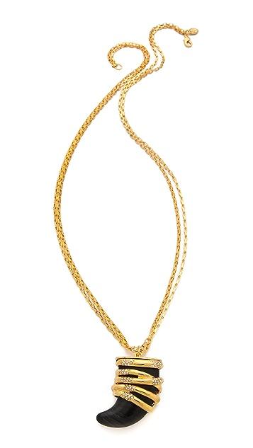 KARA by Kara Ross Snake Wrap Horn Necklace