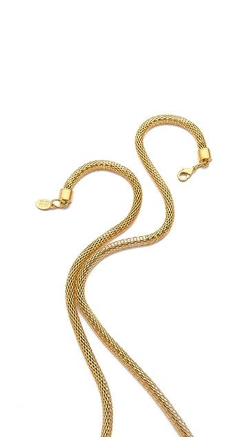 KARA by Kara Ross Snake Chain Knot Necklace