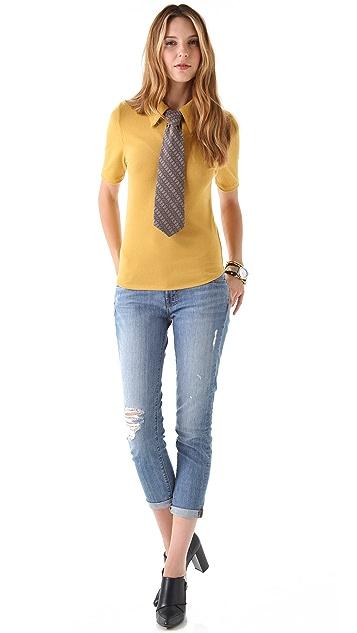 Karen Zambos Vintage Couture Grayson Necktie Top