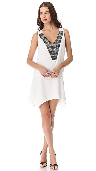 Karen Zambos Vintage Couture Marlie Deep V Dress