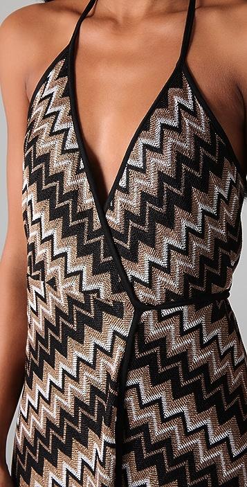 Karina Grimaldi Florence Wrap Knit Dress