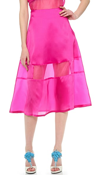 Karla Spetic Silk Liquid A Line Skirt