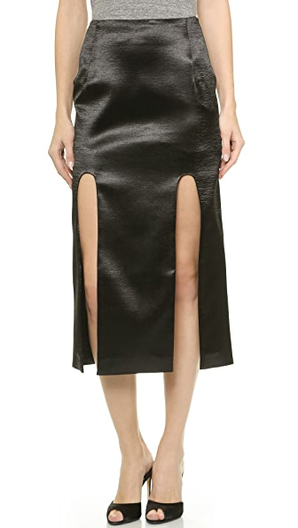 Karla Spetic Longer Midi Hi Split Skirt