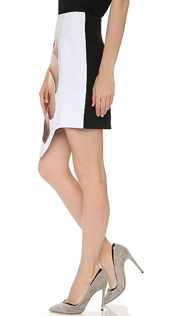 Karla Spetic Hand Print Miniskirt