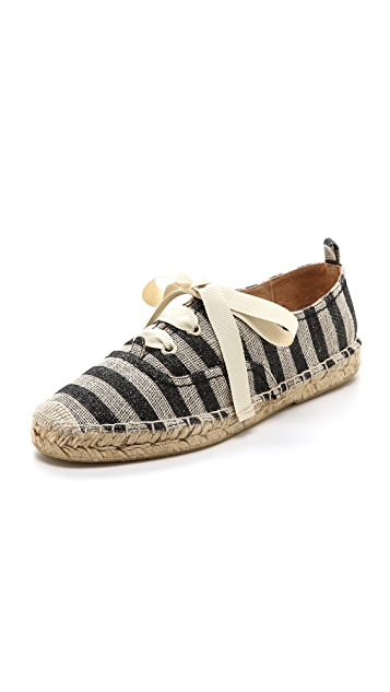 Kate Spade New York Lina Lace Up Striped Espadrilles