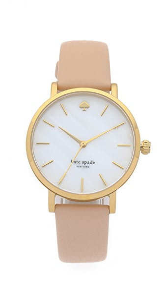 Kate Spade New York Metro Classic Watch - Vachetta