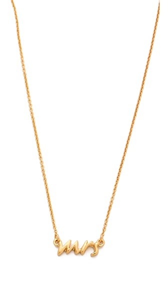 Kate Spade New York Say Yes Mrs. Necklace