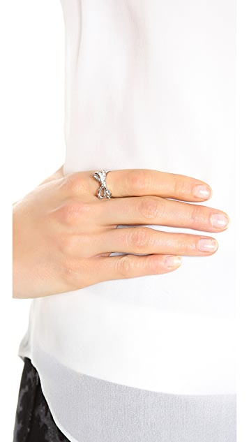 Kate Spade New York Skinny Mini Pave Bow Ring