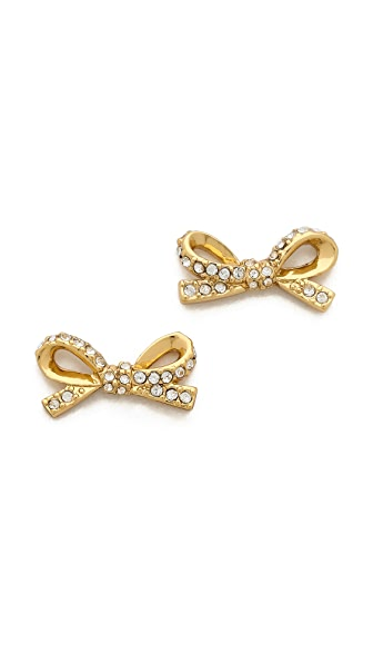 Kate Spade New York Skinny Mini Pave Bow Stud Earrings
