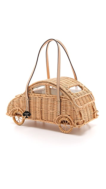 Kate Spade New York Wicker Car Tote