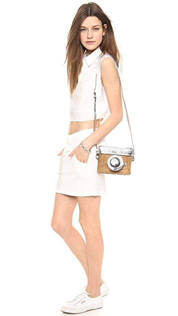 Kate Spade New York Wicker Camera Shoulder Bag