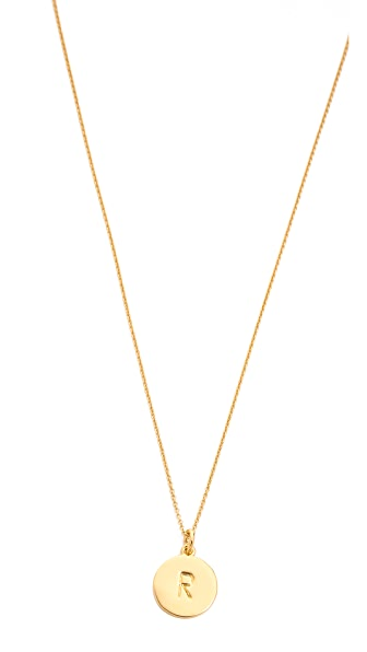 One In A Million Initial Pendant Necklace, R- Gold