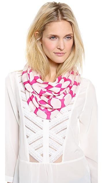 Kate Spade New York Debrorah Logo Bow Infinity Scarf