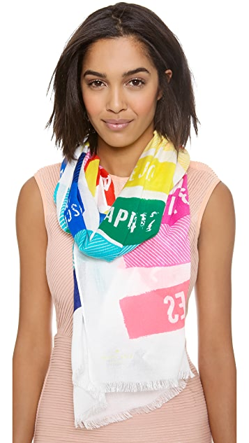 Kate Spade New York Sign Post Scarf