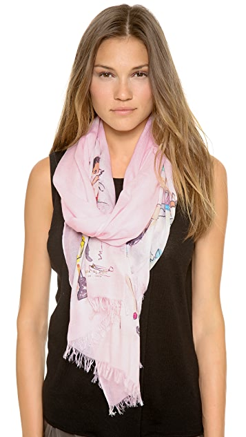 Kate Spade New York Cafe Scene Scarf