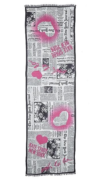 Kate Spade New York Newspaper Print Scarf