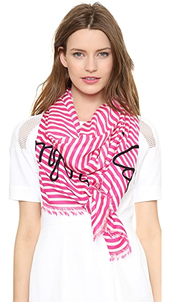 Kate Spade New York Ooh La La Embroidered Scarf