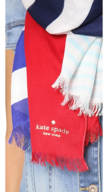 Kate Spade New York Monaco Stripe Scarf
