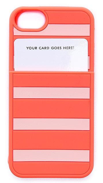 Kate Spade New York Gabrielle Stripe Pocket iPhone 5 / 5S Case