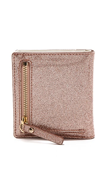 Kate Spade New York Glitter Bug Small Stacy Wallet