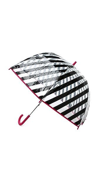 Kate Spade New York Black Stripe Umbrella In Black Stripe Multi