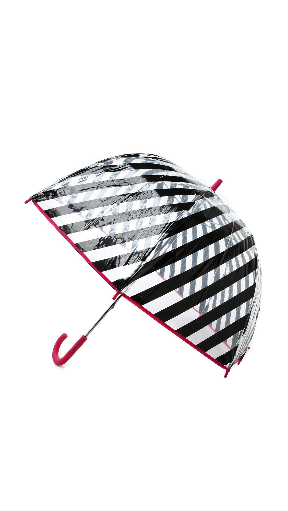 Kate Spade New York Black Stripe Umbrella - Black Stripe Multi