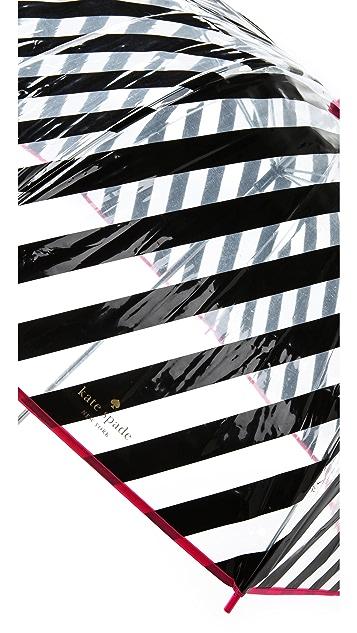 Kate Spade New York Black Stripe Umbrella