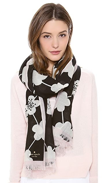 Kate Spade New York All That Glitters Festive Flower Scarf