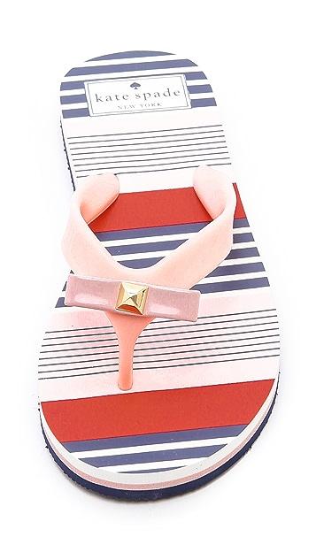 Kate Spade New York Fiji Striped Flip Flops