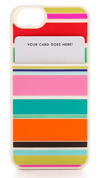 Kate Spade New York Beach Stripe Pocket Silicone iPhone 5 / 5S Case