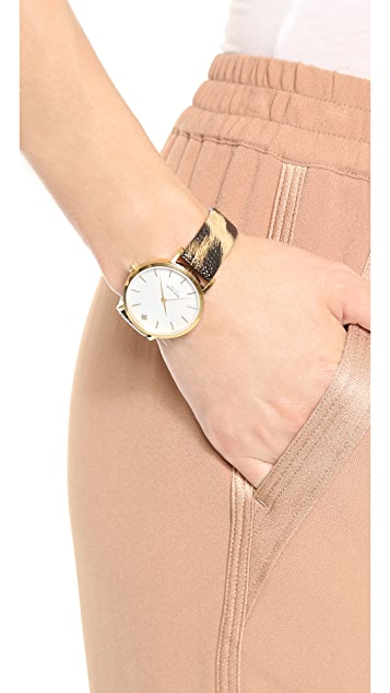 Kate Spade New York Animal Print Metro Watch