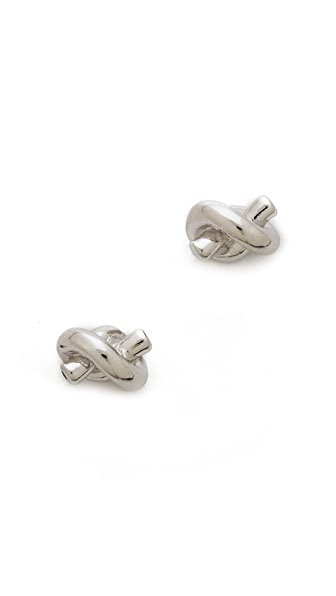 Kate Spade New York Sailor s Knot Earrings - Silver