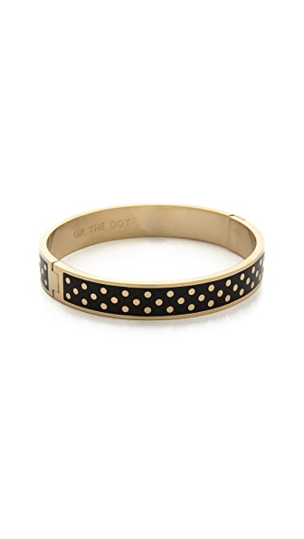 Kate Spade New York On the Dot Hinged Idiom Bangle Bracelet