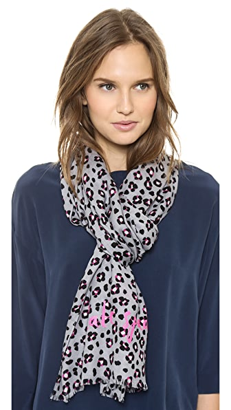 Kate Spade New York Cyber Cheetah Scarf