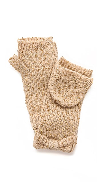 Kate Spade New York Cosmic Sequined Mittens