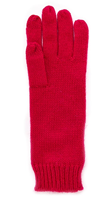 Kate Spade New York Sugar Plum Stitched Bow Gloves