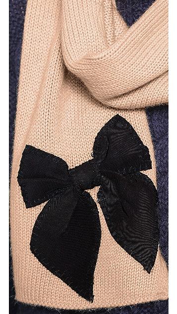 Kate Spade New York Sugar Plum Stitched Bow Scarf